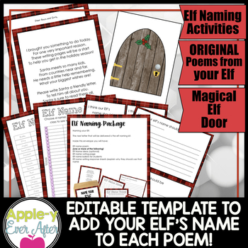 MY CLASSROOM ELF Unit - EDITABLE Christmas activities, poems and much more!!!