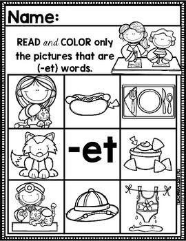 """""""-ET"""" Word Family"""
