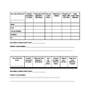 MY DAY: Self Monitoring Checklist for Elementary/Middle School
