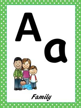 MY FAMILY Alphabet Wall Decor