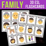 MY FAMILY - Flashcards for English Language Learners, Preschool, Online ESL