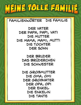 MY FAMILY IN GERMAN MEINE TOLLE FAMILIE
