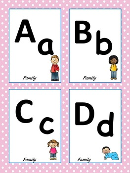 MY FAMILY THEME Alphabet & Number Cards