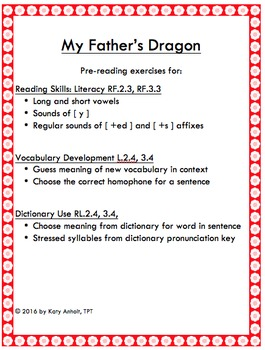 MY FATHER'S DRAGON: Complete Language Arts Bundle (Grammar, Reading, Writing)