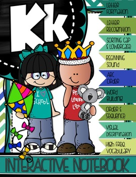 MY FIRST A to Z INTERACTIVE NOTEBOOK {Letter K}