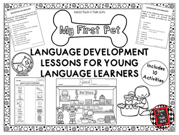 MY FIRST PET Language Development Lessons for Young Language Learners