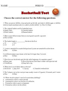 MY HUSBAND'S UNIT QUIZZES AND TESTS: PHYSICAL EDUCATION GRADES 7-12
