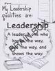 MY LEADERSHIP QUALITIES/VOCABULARY WORKSHEET