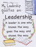 MY LEADERSHIP QUALITIES/VOCABULARY WORKSHEET