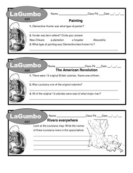 MY LOUISIANA LaGumbos 1-36 with answers