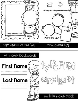MY NAME--Editable Name Practice Activities & Booklet