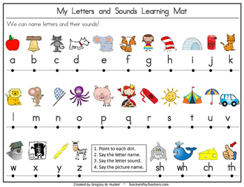 my numbers letters and sounds portable learning mat