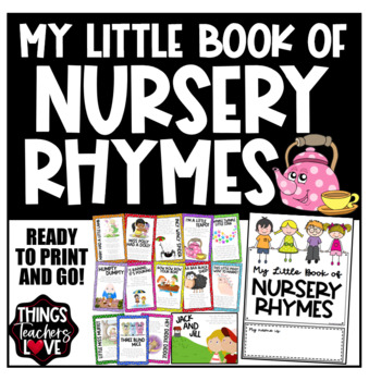 My Nursery Rhymes Mini Book, 8pgs with 14 Rhymes (A4 size, folds to A5)