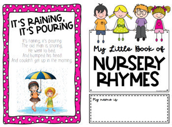 My Nursery Rhymes Mini Book, 8pgs with 14 Rhymes (Letter, folds to Half Letter)
