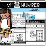 MY PHONE NUMBER--Editable Safety Unit Activities & Booklet