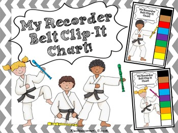 MY RECORDER BELT CLIP-IT CHART - LARGE CHART (LEDGER 11 X