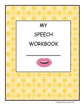 SPEECH THERAPY- MY SPEECH WORKBOOK (A Workbook for Articulation Practice)