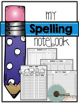 MY SPELLING NOTEBOOK {Tracking, Practice, Assessment and Fluency}