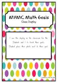 MYMC Math Goals - Goal Poster Class Display