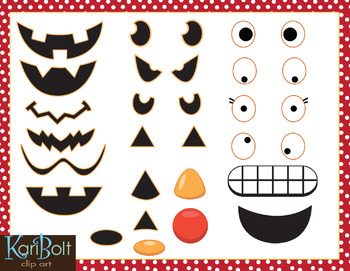 MYO Jack-o-Lantern with Facial Expressions and Emotions Clip Art and Printables