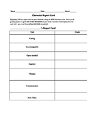 MYP Characterization - Report Card, and Learner Profile Chart