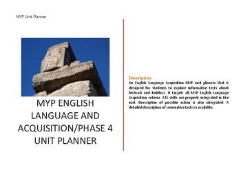 MYP English Language Acquisition l Phase 4 l Unit Planner
