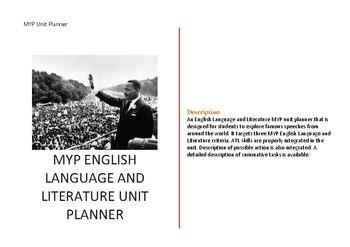MYP English Language and Literature l Unit Planner