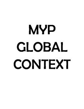 IB MYP Global Contexts Signs