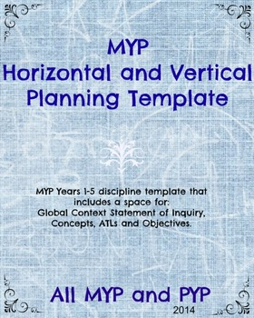 MYP Horizontal and Vertical Planning Template