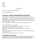 MYP IB Ceramic Teapot Artist Statement Guide and Rubric