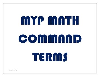 MYP Math Command Term Wall Posters