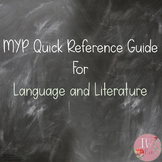 MYP Quick Reference Guide for Language and Literature