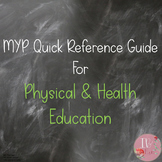 MYP Quick Reference Guide for Physical and Health Education