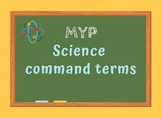 MYP Science Command Terms