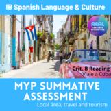 MYP Summative Criteria B Reading - Viaje a Cuba