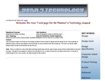 MYP Technology Year 1. Maze Game