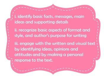 MYP language acquisition assessment criteria