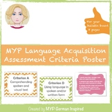 IB MYP language acquisition assessment criteria (International Baccalaureate)