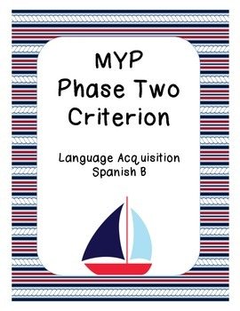 MYP/IB Phase 2 - Spanish Language