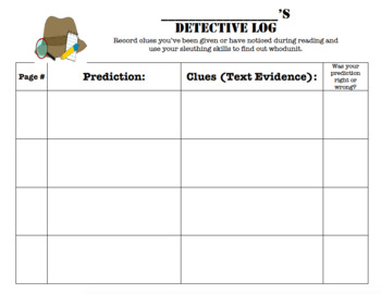 MYSTERY GENRE: Detective Log for TEXT EVIDENCE