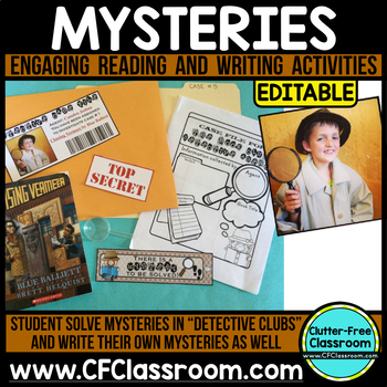 MYSTERY UNIT | book clubs | literature circles | reading buddies | Mystery Genre