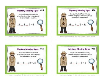 MYSTERY MISSING SIGNS • Grades 3 – 5