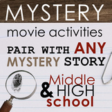 MYSTERY Movie Activities for Teens, Fun for Grades 6-12, CCSS