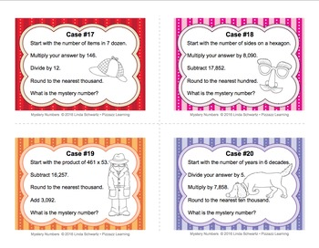 MATH MYSTERY NUMBERS TASK CARDS  • Grades 4–6