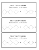 MYSTERY NUMBERS number sense activities