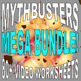 MYTHBUSTERS - MEGA BUNDLE (70 VIDEO WORKSHEETS & MORE!) / FREE UPDATES