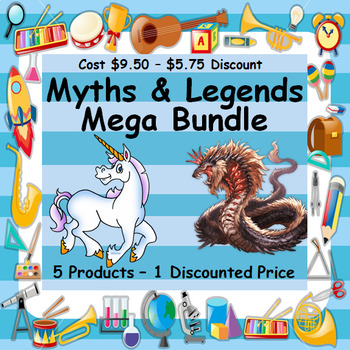 MYTHS & LEGENDS MEGA BUNDLE - 5 PRODUCTS - 1 DISCOUNTED PRICE WORTH $17.95
