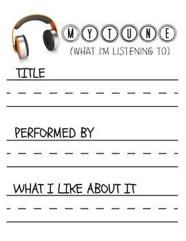 MYTUNE- A Listening Log for Teachers