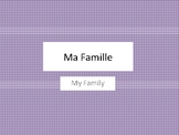 Ma Famille Activity and Family Booklet