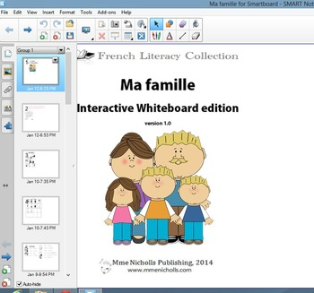 ma famille super worksheet package french literacy